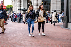 San Francisco 2018 (burnt dirt) Tags: sanfrancisco california vacation town city street road sidewalk crossing streetcar cablecar tree building store restaurant people person girl woman man couple group lovers friends family holdinghands candid documentary streetphotography turnaround portrait fujifilm xt1 color laugh smile young old asian latina white european europe korean chinese thai dress skirt denim shorts boots heels leather tights leggings yogapants shorthair longhair cellphone glasses sunglasses blonde brunette redhead tattoo pretty beautiful selfie fashion japanese yellow hole blue