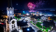 Woburn Flag Day Fireworks (TomBerrigan) Tags: aerial fireworks drone dji drones architecture woburn boston new england