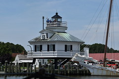 1879 Hooper Strait Lighthouse from Winnie Estelle's decks (Chesapeake Bay Maritime Museum Photos) Tags: winnie estelle cbmm volunteer volunteers buyboat scenic river cruise stmichaels md miles talbot county maryland chesapeake bay maritime museum