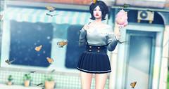 Butterfly. (daeberethwen) Tags: anatomy arcade catwa gacha ink minimal momochuu mudskin secondlife