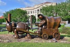 Large, Covered Wagon (jpellgen (@1179_jp)) Tags: joslyn omaha ne nebraska midwest usa america travel roadtrip nikon sigma 1770mm d7200 2018 spring june art museum artmuseum tomotterness garden sculpturegarden sculpture