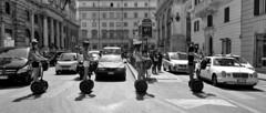 Abbey Roade (Bim Bom) Tags: rome roma roma20185l bw streetlife women girls segway