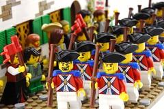 Embark the Marines (Ayrlego) Tags: brethrenofthebrickseas bobs corrington redcoats lego portwoodhouse colonial parade