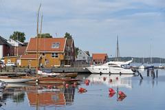 Serene morning in Son, Norway (Ingunn Eriksen) Tags: son vestby akershus norway norskekysten marina reflections woodenboat boat yacht serene