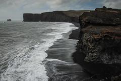 Dyrhólaey - Iceland (Karol Majewski) Tags: island iceland landscape nature europe north mountains wild wilderness adventure explore dyrholaey shore coast ocean water tides waves sand black atlantic