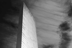 Building (runslikethewind83) Tags: japan tokyo building architecture bw monochrome blackandwhite city urban effect sky clouds