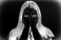 Eyes (VisualTheatrics) Tags: dslr detail digitalphotography dailylife photography photograph pointofview people portrait portraits photo portraiture eye eyes digitalart digitaldesign digitalneg digitalnegative monochrome mood moody day design different edit photoshop