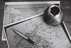 Something ends, something begins... (mkarwowski) Tags: desk work writing history canon t70 canont70 tessar carlzeissjenatessar analog monochrome blackandwhite fomapan200 fomapan
