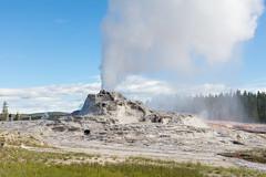Castle Geyser early morning eruption (YellowstoneNPS) Tags: castlegeyser ynp yellowstone yellowstonenationalpark eruption geyser