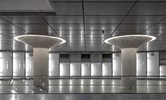 Two Pillars (henny vogelaar) Tags: keulen chlodwigplatz ubahnhof nordsüd stadtbahn köln schallerpartnerarchitekten architecture underground station cologne