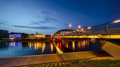 Mindaugas Bridge Vilnius (K.H.Reichert [ not explored ]) Tags: neris longexposure night fluss brücke bridge river riverscape reflection spiegelung vilnius bluehour tiltas litauen langzeitbelichtung lithuania vilniausapskritis lt