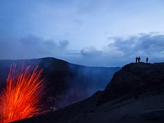Mount Yasur erupting, Vanuatu (TeunJanssen) Tags: volcano explosion erupting lava experience longexposure mountain mount yasur mountyasur tanna vanuatu olympus omd omdem10 travel traveling worldtravel backpacking