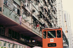 tram (obwing@ymail.com) Tags: tram hk hong kong 香港 電車 street snap 人 路 城市 建築物 market 市場 街市 北角 north point 春秧街 chun ye