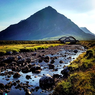 Looking Towards Buachaille Etive Mor From Kings House Hotel.