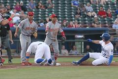 That's a crowd (Minda Haas Kuhlmann) Tags: sports baseball milb minorleaguebaseball pacificcoastleague omahastormchasers nebraska omaha outdoors memphisredbirds umpires weirdbaseball