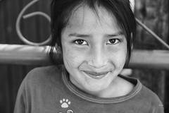 Amira, in Black and White (_aires_) Tags: aires iris smile eyes innocence shy portrait canoneos5dmarkiv canonef2470mmf28liiusm obrajillo obrajillocantaperu