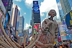 All Over the Place (Fenfotos) Tags: newyork nyc nyny manhattan timessquare melchin streetart arts streetphotography allovertheplace fujifilm xt2 urbanart ny