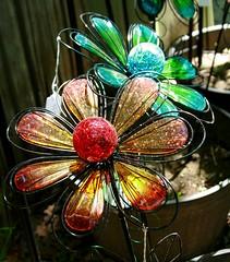 Glass Flowers (Emily K P) Tags: bristolrenaissancefaire art glass flower red orange blue green colorful
