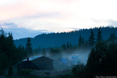 Boats in fog! (petergranström) Tags: boats fog natur nature kväll evening land lapland arvidsjaur house