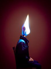 Self Portrait (Burning Days) (felipemorin) Tags: surreal surrealism surrealist photomanipulation photoshop creative digitalart art fineart conceptual portrait selfportrait lighting