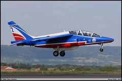 "ALPHAJET E ""Patrouille de France"" 2 F-TETF E45 Nancy Ochey juin 2018 (paulschaller67) Tags: alphajet e patrouilledefrance 2 ftetf e45 nancy ochey juin 2018"