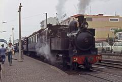 CP E95-Espinho, Portugal, 1972 (filhodaCP) Tags: comboiosdeportugal cp comboioavapor steamlocomotive ferroviário museuferroviário narrowgauge metergauge viaestreita linhadovouga
