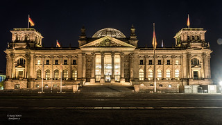 Reichstag dome at night
