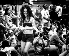 Dancin' In The Street (Danny Shrode) Tags: monochrome outdoor woman people festival streetphotography blackandwhite