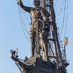 Monument showing Peter the Great on a ship holding a map thumbnail