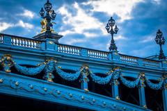 More extravagant bridges over the Siene river in Paris.