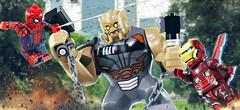 LEGO Avengers: Infinity War - Iron Man & Spider-Man vs. Cull Obsidian (MGF Customs/Reviews) Tags: lego avengers infinity war iron man spiderman robert downey jr tom holland custom figure minifigure