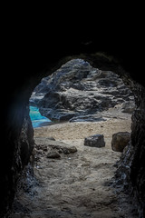 Beach Caving (Alison Claire~) Tags: hālonablowhole oahu hawaii island beach water usa nature tourism explore coast coastal rock rocks volcanic blue canon canoneos canoneos600d eos eos600d lightroom cave sand