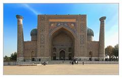 Samarqand UZ - Sher-Dor-Madrasa 14 (Daniel Mennerich) Tags: silk road uzbekistan registan samarqand history architecture hdr