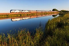 RR-20180625-BrushSub-88-e (skyviewtim) Tags: 6 amtrak207 coloradorailroads coloradotrains pond reflection barr