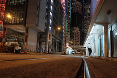 After Working Hour (chc.jimmy) Tags: fujifilm xe2 xf18mm classic chrome hong kong tram rail night central
