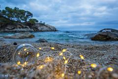 Cala del pi (aaamsss) Tags: sea seaside mediterranean costabrava seashore pi caladelpi platjadarto aaamsss seascape eveneing leds lights creativity