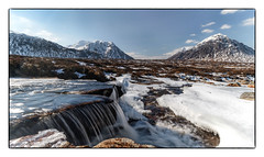 Now that feels Cooler. (47mki) Tags: rannochmoor buachaille cauldron waterfall snow ice glencoe highlands scotland