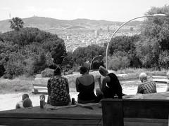 Barcellona - MontJuic (Giangaleazzo) Tags: spagna spain estate summer june nikon street barcelona people friend biancoenero monochrome youth amici città cityscape