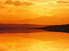 Golden (Tobymeg) Tags: mirrored sky gold atered images scotlanden al