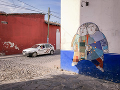 merged (bugeyed_G) Tags: malinalco mexico street tourism abstract art taxi mosaic tile mural