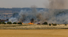 Roxby crop fire (alan.irons) Tags: fire field crops tractors farming smoke roxby scunthorpe northlincolnshire farmland fireengines humberside