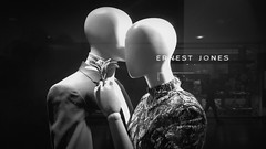 Cyber Love - 'The importance of being earnest' @ErnestJones (TempusVolat) Tags: ernestjones earnest mono monochrome black white bw shops shopping dummies mannequin dummy mannequins love lovers kiss cyberlove cyberlovers cyber online scifi robots robot robotlover robotlovers future garethwonfor tempusvolat gareth wonfor tempus volat mrmorodo nokia lumia 1020 lumia1020 cameraphone faceless anonymous anon