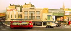 Feltham in the High Street (kingsway john) Tags: londontransportmodel tram layout oo gauge 176 scale kingsway models majestic cinema holden charles station underground chs