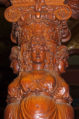 Wooden Maidens (jameskirchner15) Tags: flaglercollege staugustine florida thesunshinestate building craftsmanship wood pillar face carving pentax
