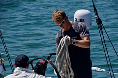 Sailor (gerrymccabe) Tags: sailor male preparation work beauty exciting sailing yachts race ireland racing 2018 volvo festival