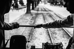Hang on 304.365 (ewitsoe) Tags: canoneos6dii city ewitsoe warszawa erikwitsoe poland summer urban warsaw bnw mono monochrome blackandwhite tram travel destination cityscape wander traveling visit backpack ride trams transportation