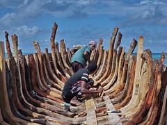 Ship Repair (louise peters) Tags: visserboot fishingboat repair reparatie restauratie hout wood wooden geraamte skelet skeleton visser fisherman mangwapani zanzibar tanzania afrika africa beach strand kust ocean oceaan indianocean indischeoceaan