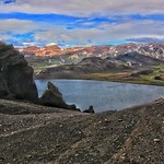 Iceland ~ Landmannalaugar Route ~  Ultramarathon is held on the route each July ~ Hiking from Camp -  Lava thumbnail