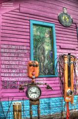 If You Didn't Know Before, Now You Do (DetroitDerek Photography ( ALL RIGHTS RESERVED )) Tags: allrightsreserved detroit 313 urban reuse art outdoor outside detroitindustrialgallery timburke studio house fire damage display creativity creative brilliant pink colors bright july 2018 hdr 3exp canon 5d mkii digital eos motown motorcity