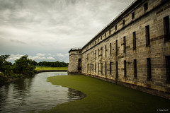 Fort Delaware (Jen MacNeill) Tags: fort delaware civilwar era history historic site american us usa moat water fortress